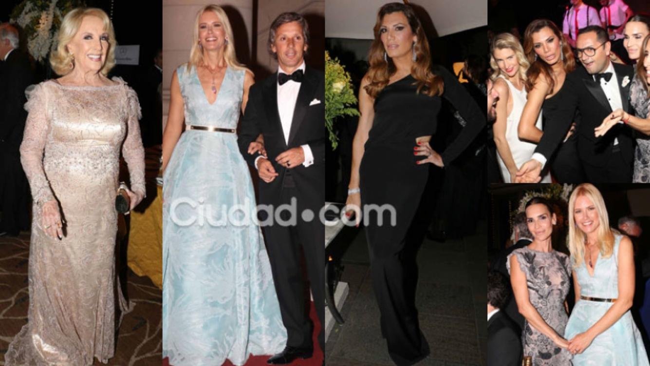 Cumbre de celebridades en la gala a beneficio del Hospital Austral (Fotos: Movilpress).