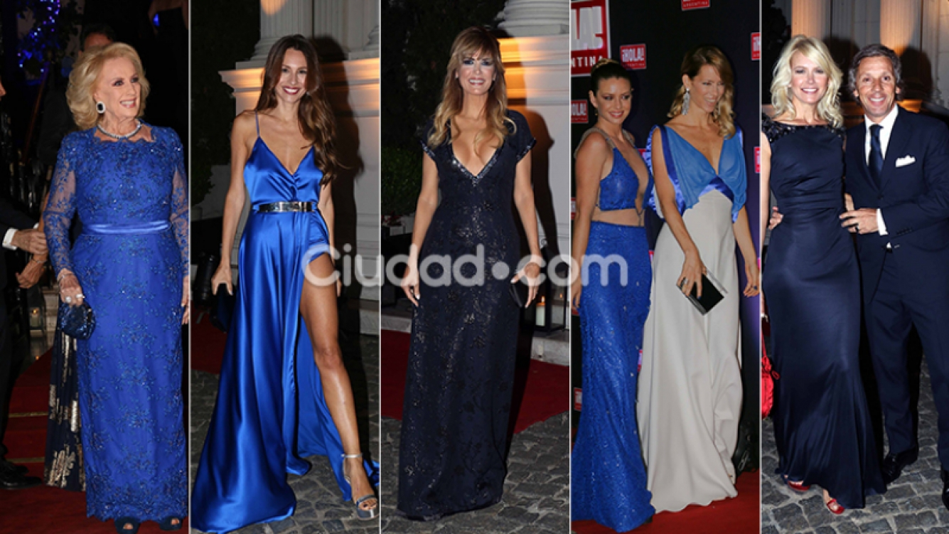 Diosas de azul en la gala de la revista ¡Hola! Argentina. Fotos: Movilpress-Ciudad.com.