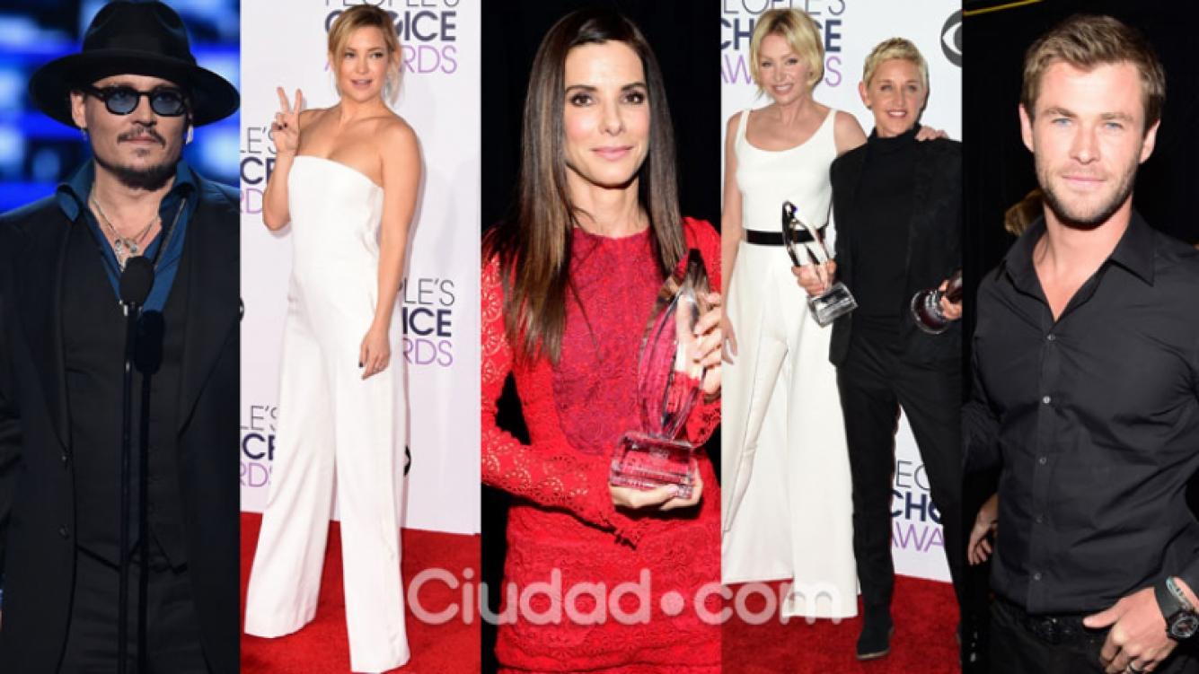 Las celebrities se vistieron de gala para la entrega de premios (Fotos: AFP).