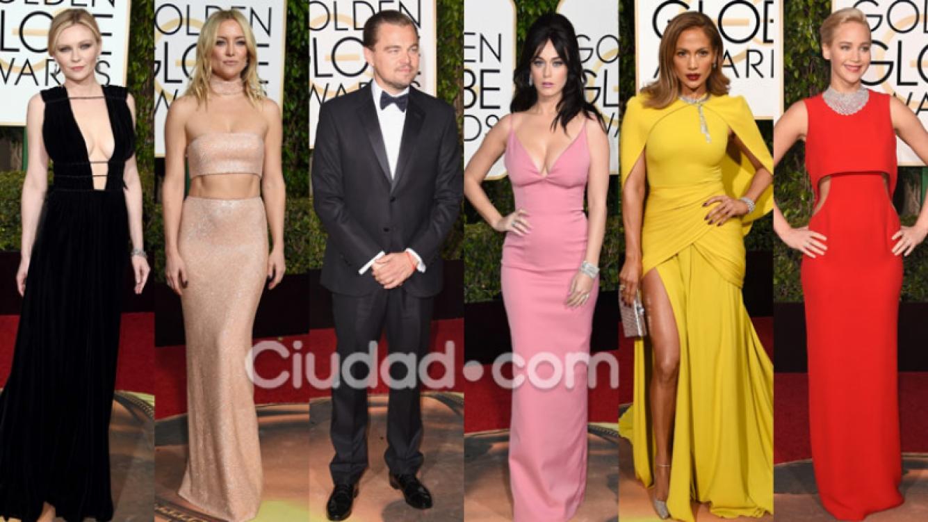 Los mejores looks de la red carpet de los Globos de Oro (Fotos: AFP).