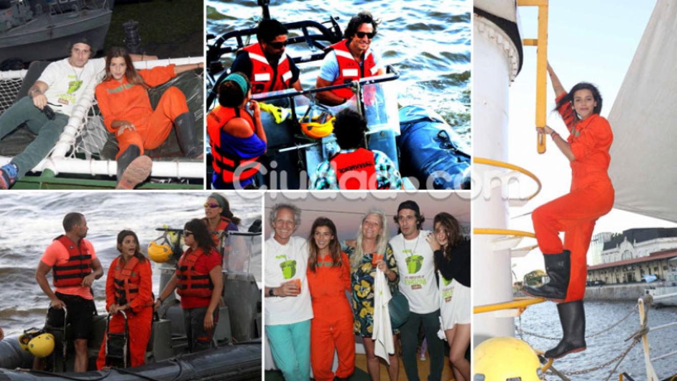 Famosos argentinos, activistas náuticos comprometidos en el puerto de Buenos Aires