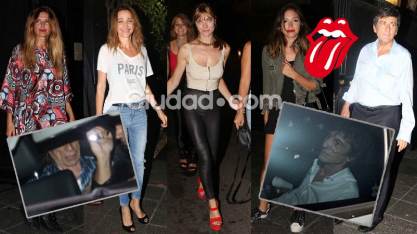 Las celebrities locales en una cena junto a los Rolling Stones (Fotos: Movilpress).