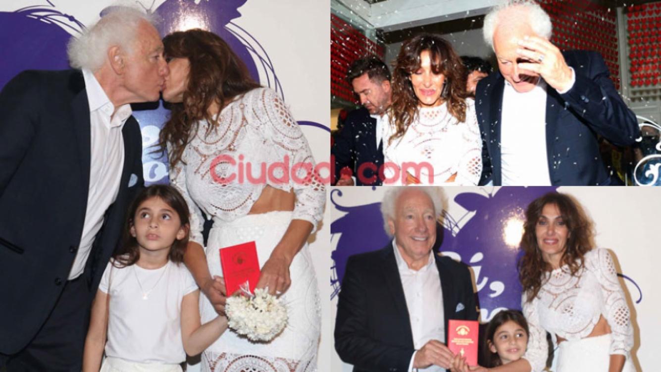 Guillermo Coppola se casó con Corina Juárez (Fotos: Movilpress).