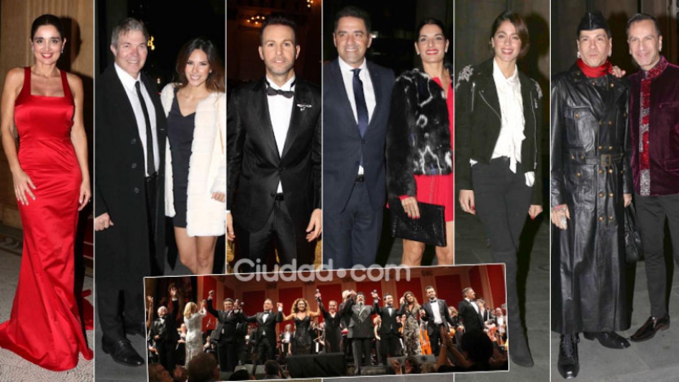 Parejitas y famosos en una gala a pura música en el Teatro Colón. (Foto: Movilpress)