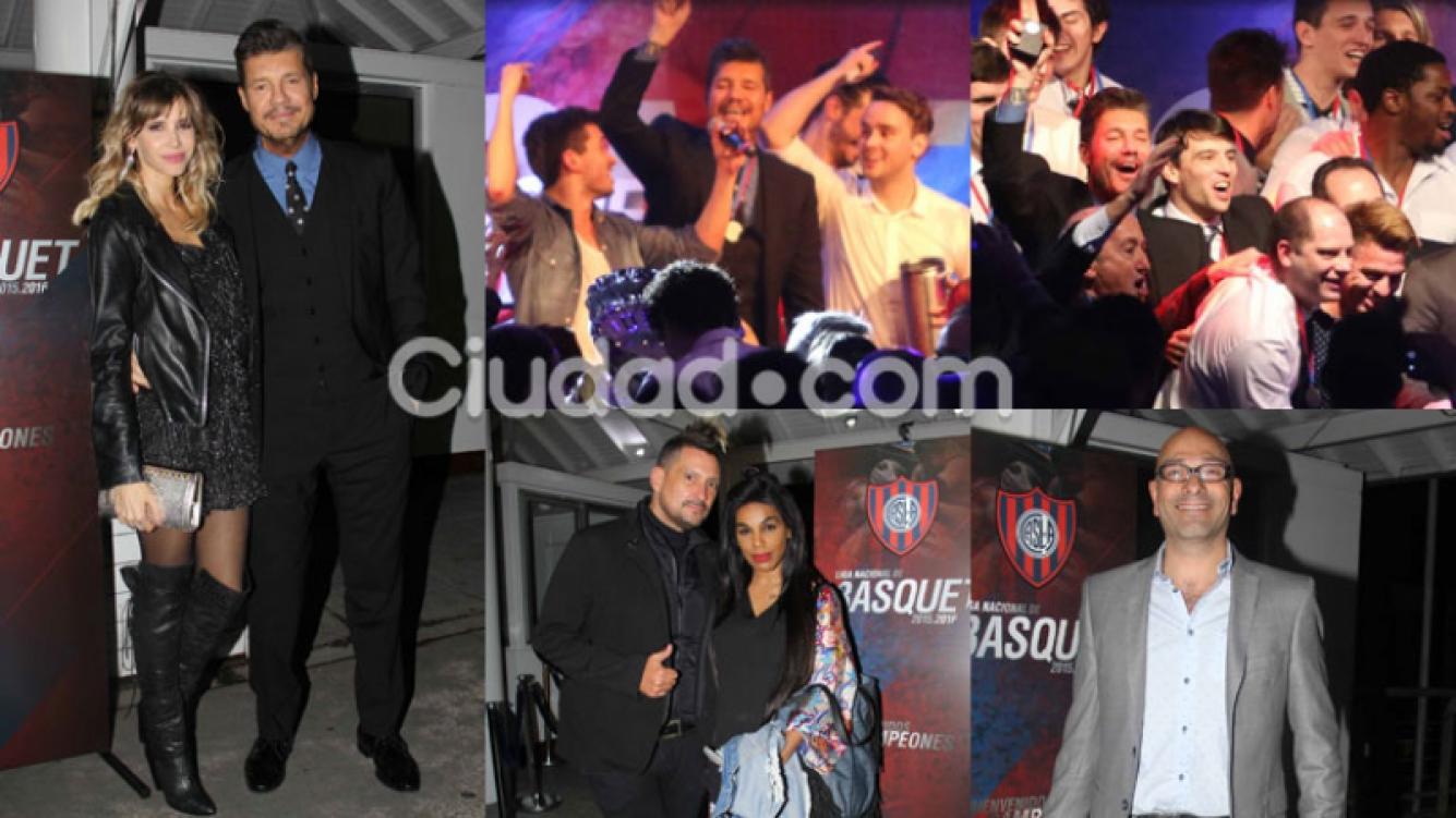 Marcelo Tinelli, Guillermina Valdés y más famosos de festejo (Fotos: Movilpress).