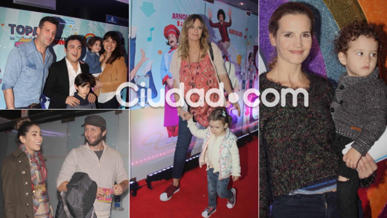 Los famosos y sus hijos del show de Topa (Foto: Movilpress)