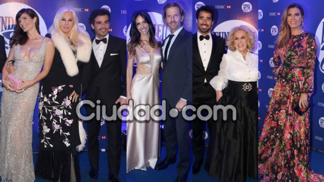 Los famosos brillaron en la gala de Fundaleu (Fotos: Movilpress).
