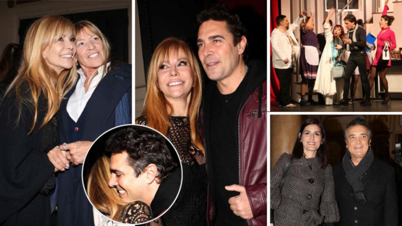Graciela Alfano se reencontró con Matías Alé y su mamá en el estreno de Entretelones. Foto: Movilpress - Ciudad.com