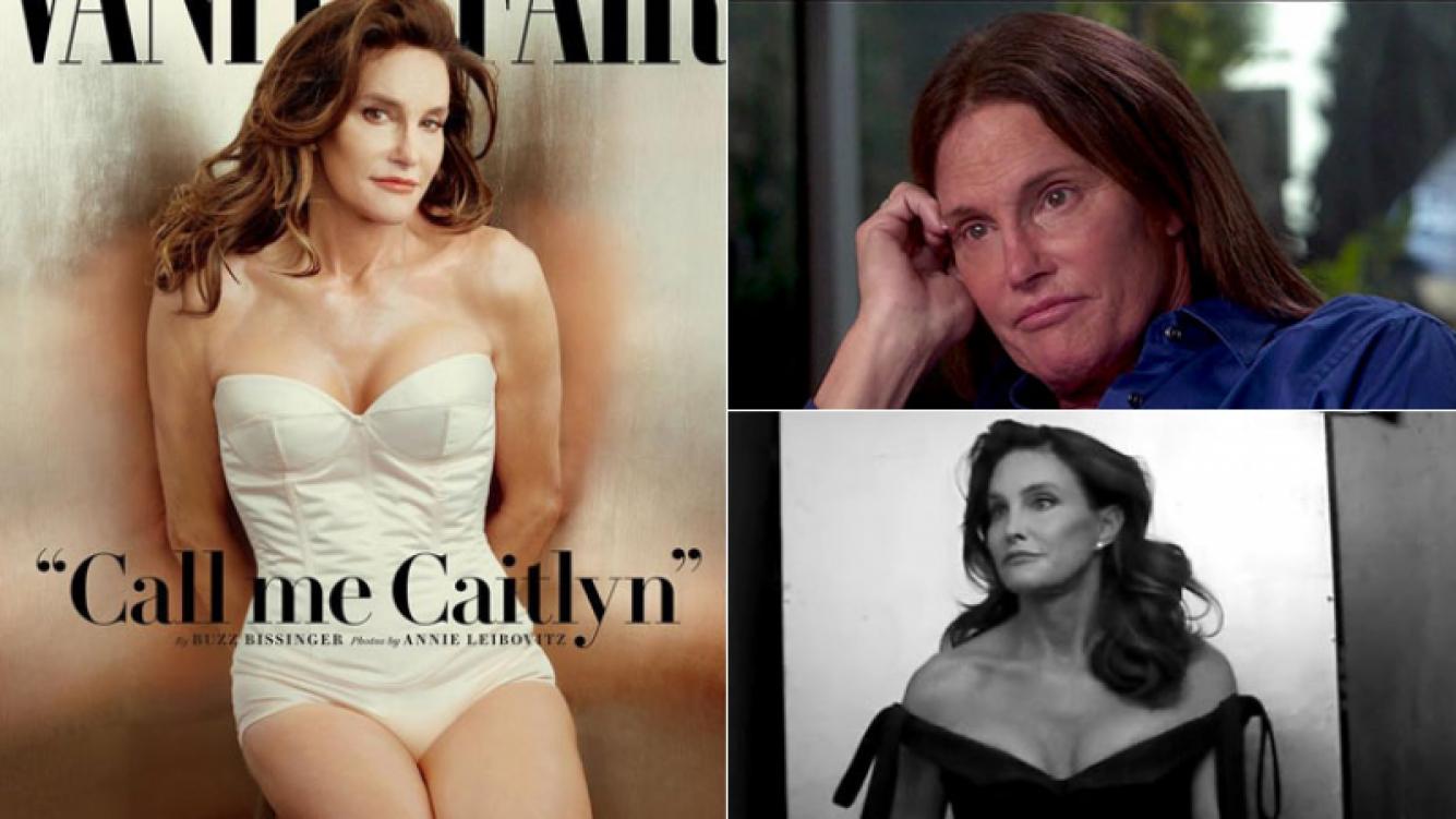 Bruce Jenner y su primera portada como Caitlyn (Fotos: Vanity Fair).