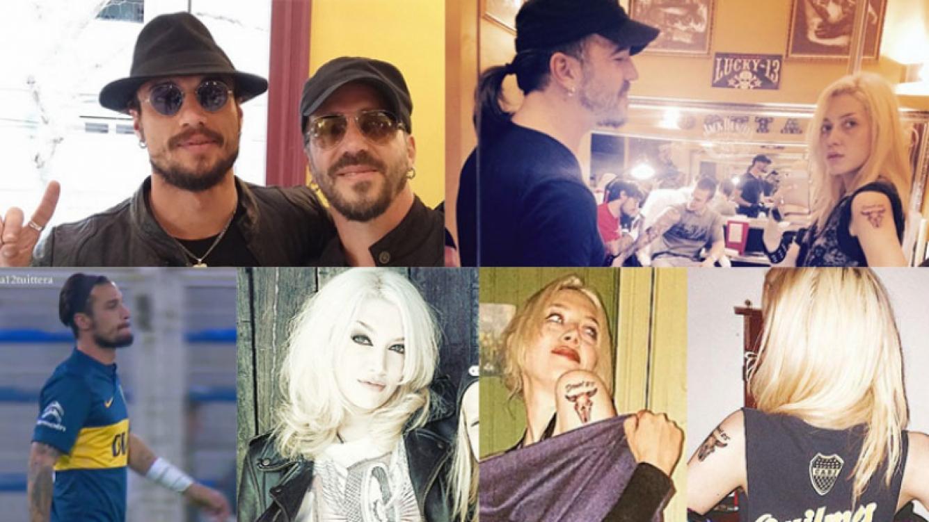Daniel Osvaldo y Militta Bora, ¿se tatuaron juntos? (Fotos: Web).