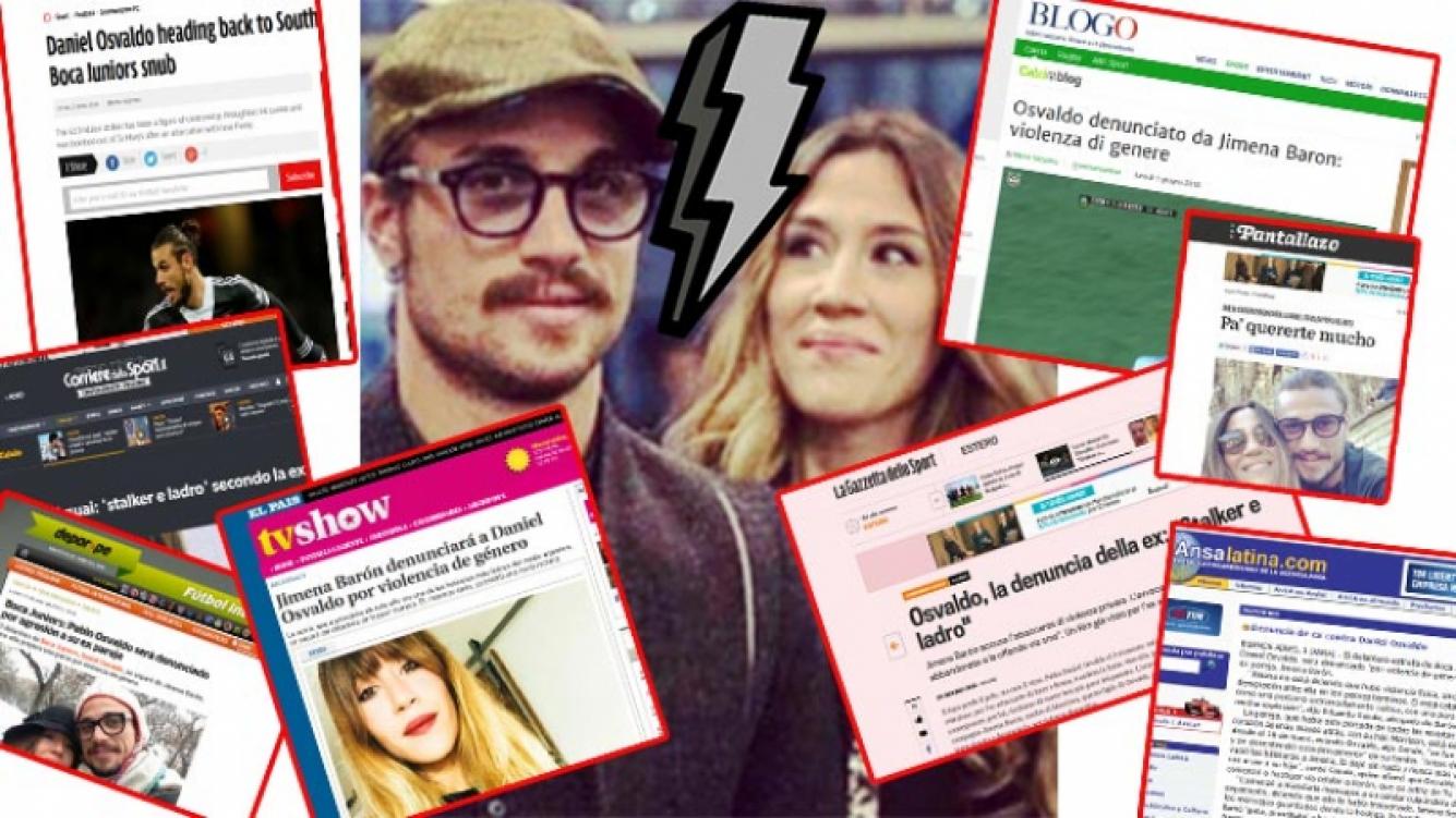 Los diarios del mundo reflejaron la separación de Jimena Barón y Daniel Osvaldo. Fotos: Web.