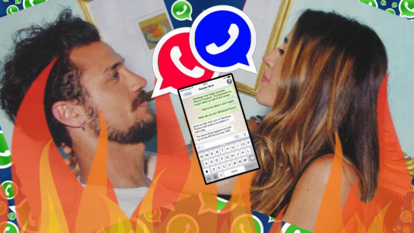 El chat que rebalsó el vaso en la relación de Daniel Osvaldo y Jimena Barón. Foto: Web.