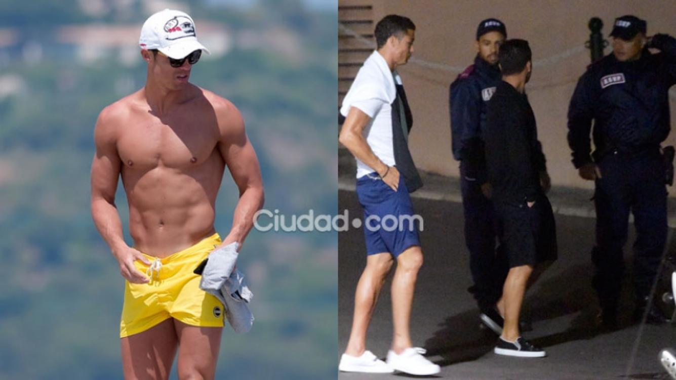 Ronaldo dio la nota en Saint Tropez: cuerpazo y papelón Fotos: Grosby Group).