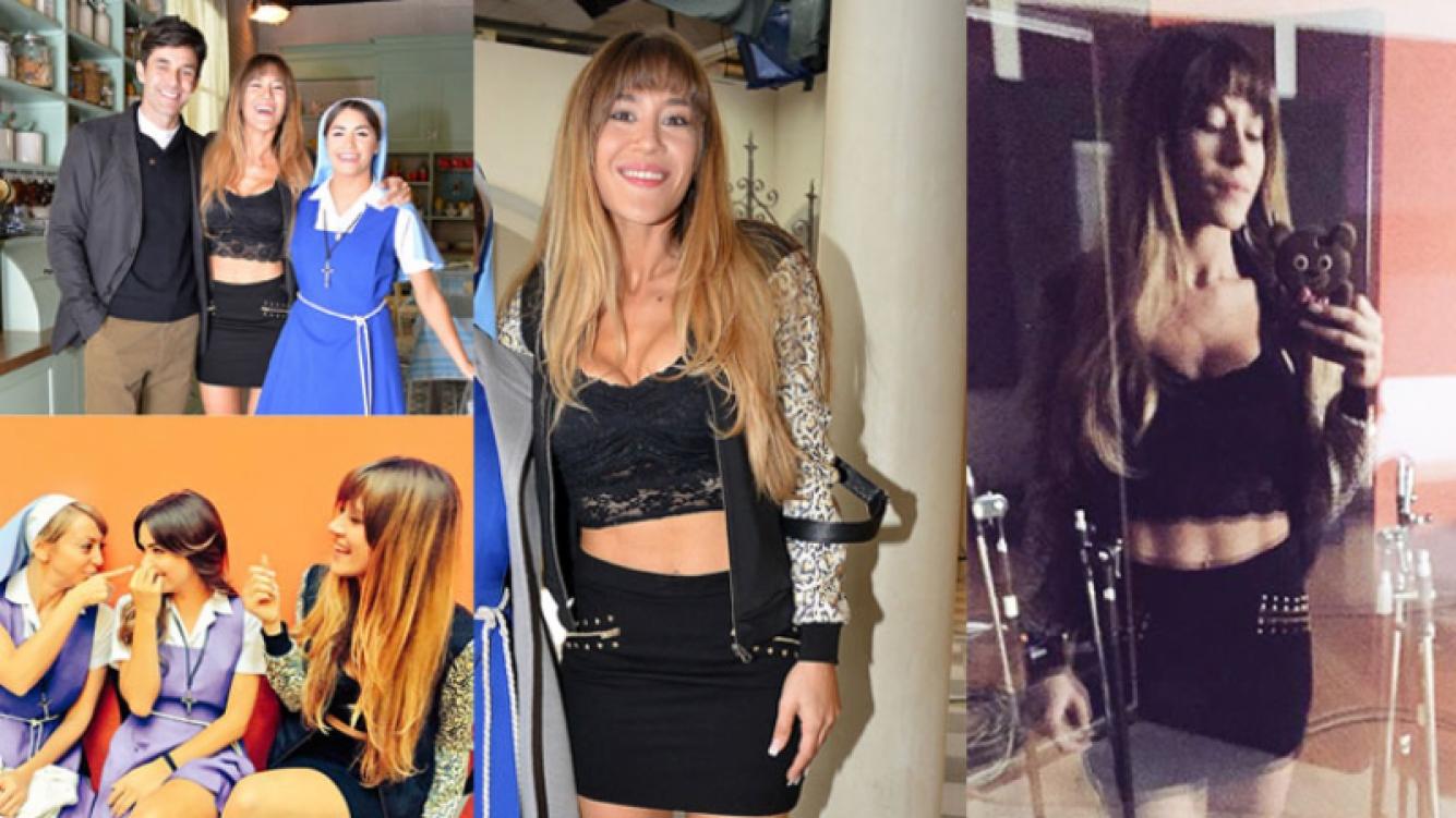 Jimena Barón y un look muy provocativo para su personaje (Fotos: Prensa El Trece y Twitter).