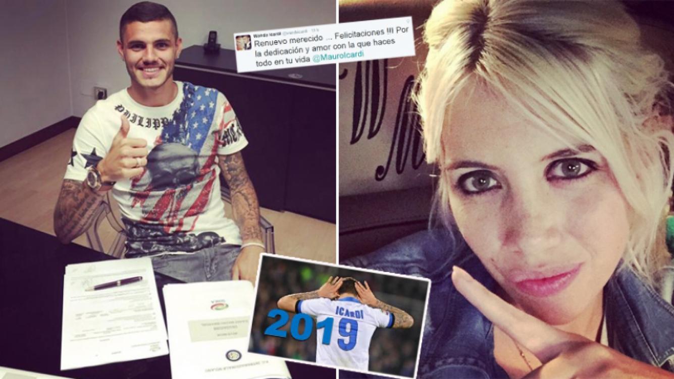 Mauro Icardi renovó su contrato con el Inter ¡Wanda Nara encabezó las negociaciones! (Foto: Web)