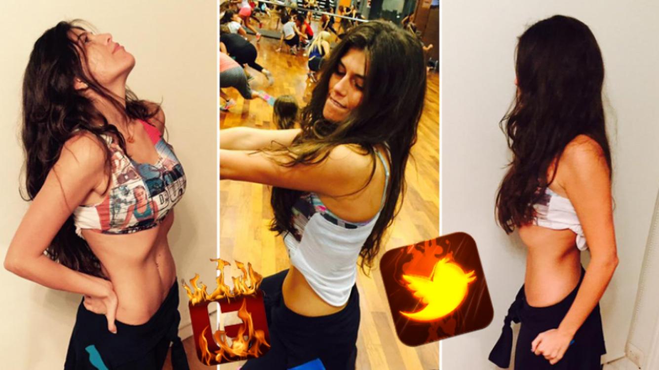 Loly Antoniale y las fotos que despertaron críticas en Twitter por su delgadez. (Foto: Twitter)