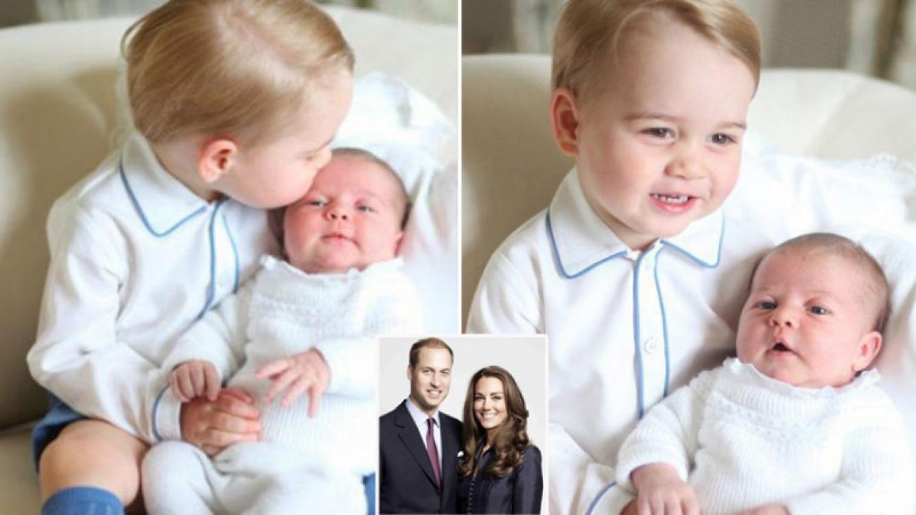 Las primeras fotos oficiales de George y Charlotte, los principitos de Cambridge. (Foto: Twitter)