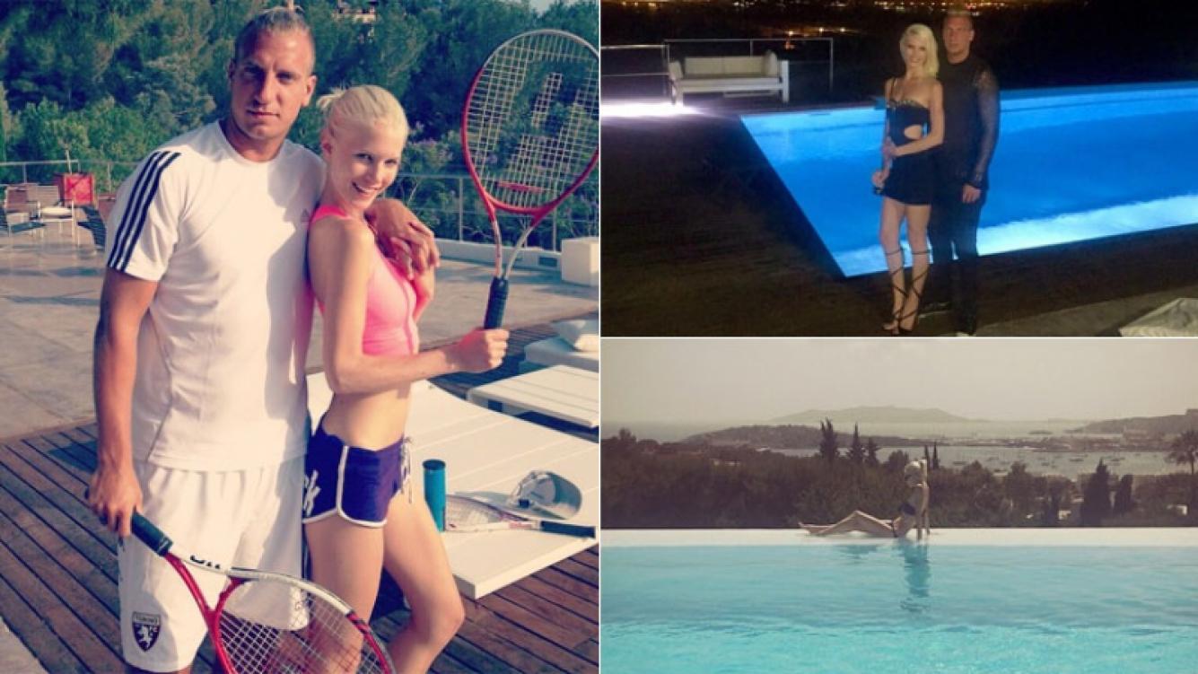 Las vacaciones de Maxi López y Daniela Christiansson en Ibiza (Foto: Instagram)