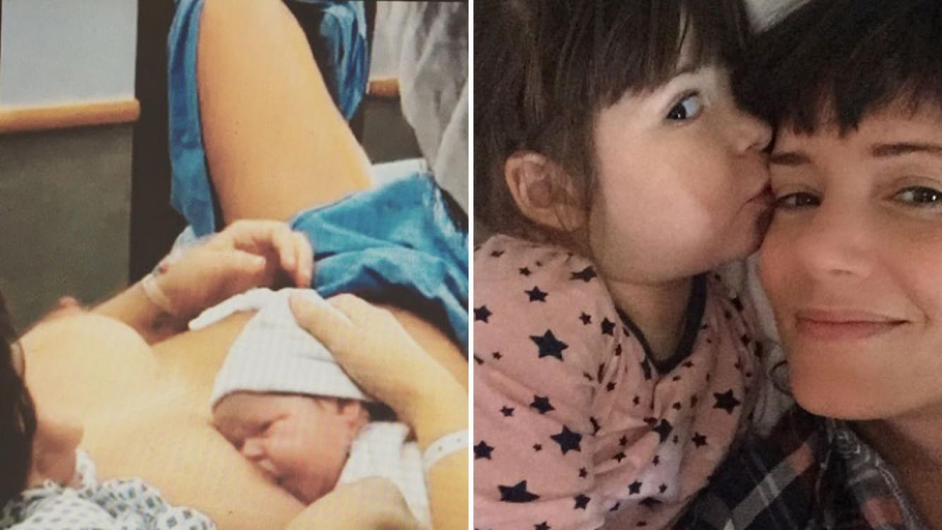 La tierna foto retro de Griselda Siciliani con su hija Margarita en brazos tras dar a luz. (Foto: Instagram)