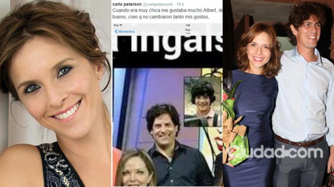 Carla Peterson y un simpático comentario en su Twitter (Fotos: Web y Archivo Ciudad.com).