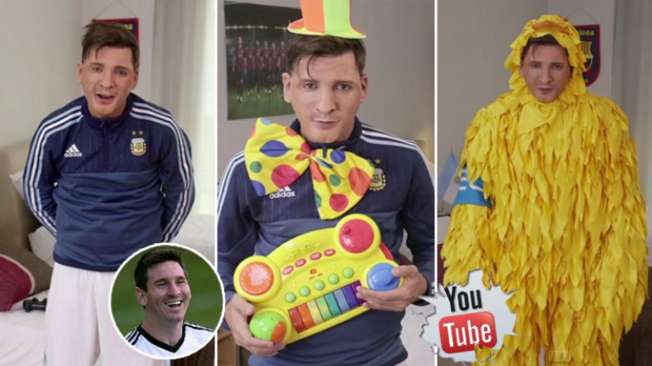 La desopilante imitación de Martín Bossi a Lionel Messi. (Foto: captura)