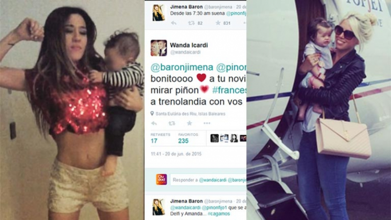 La divertida charla twittera de Jimena Barón y Wanda Nara. Fotos: Twitter e Instagram.