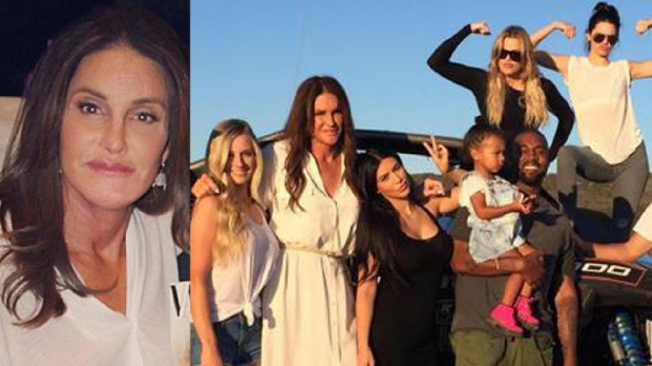 Caitlyn Jenner y una fotografía junto a su familia en el Día del Padre (Fotos: Twitter).