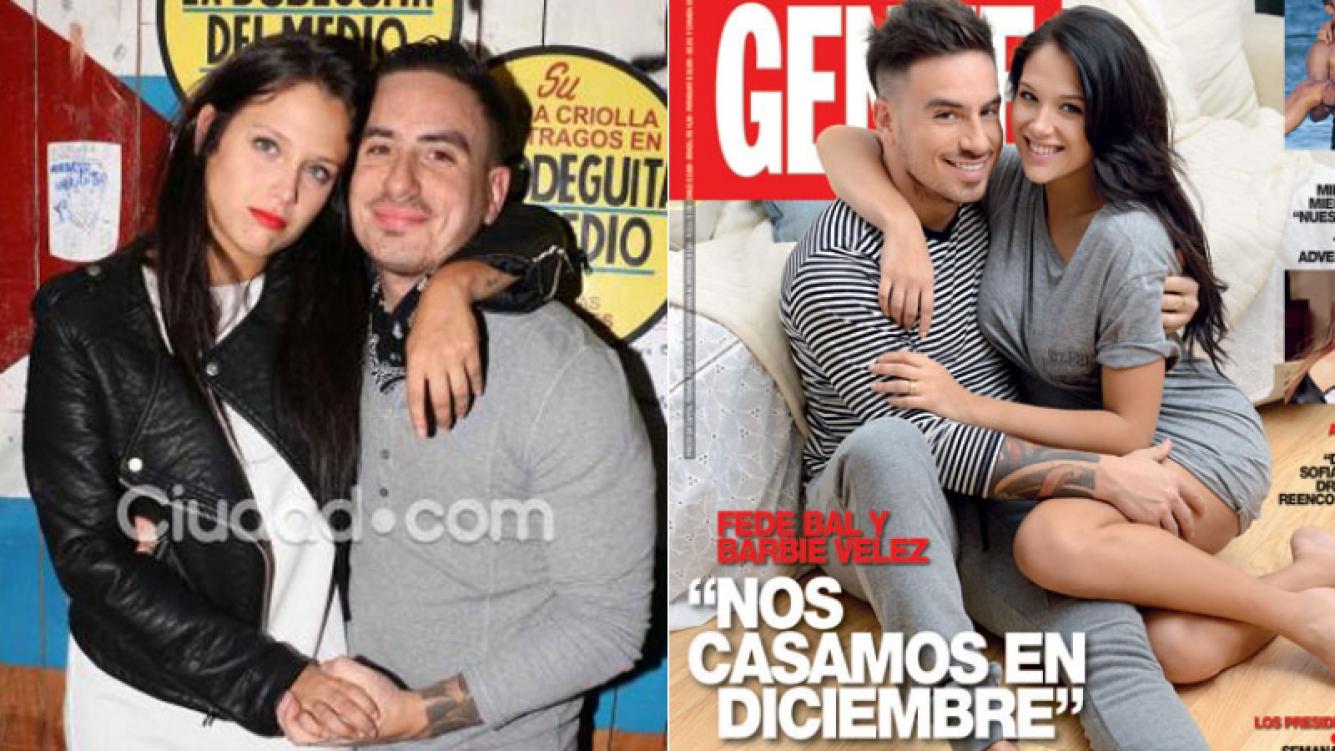 Fede Bal anunció su casamiento con Barbie Vélez (Foto: Ciudad.com y Revista Gente)
