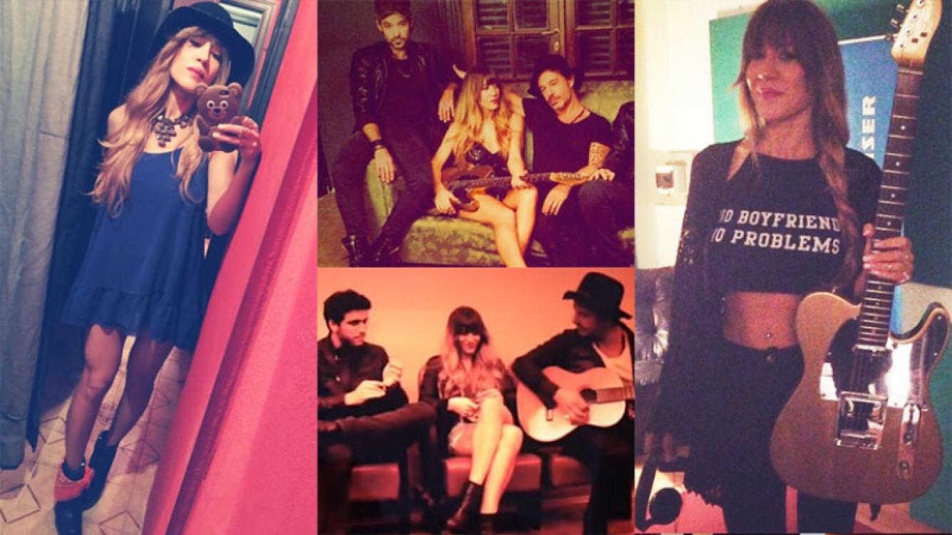 Jimena Barón y su look sexy rockero junto a su banda (Fotos: Instagram).