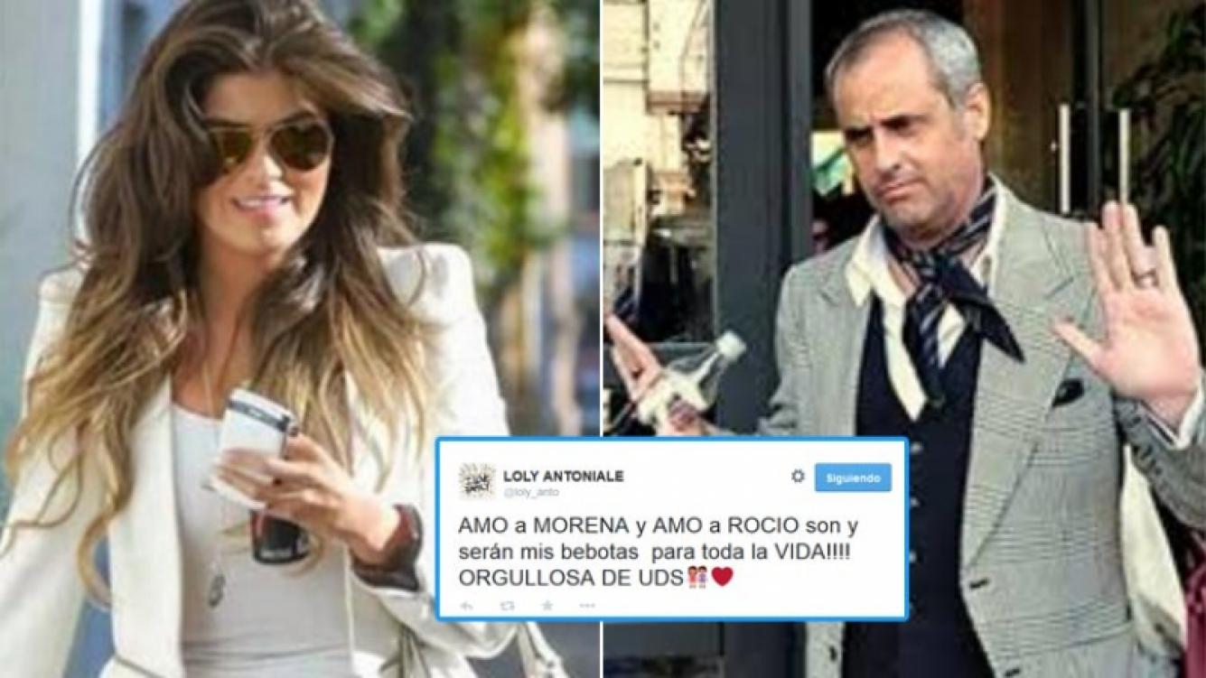 Loly Antoniale y su tweet para las hijas de Rial. Fotos: Web y Twitter.