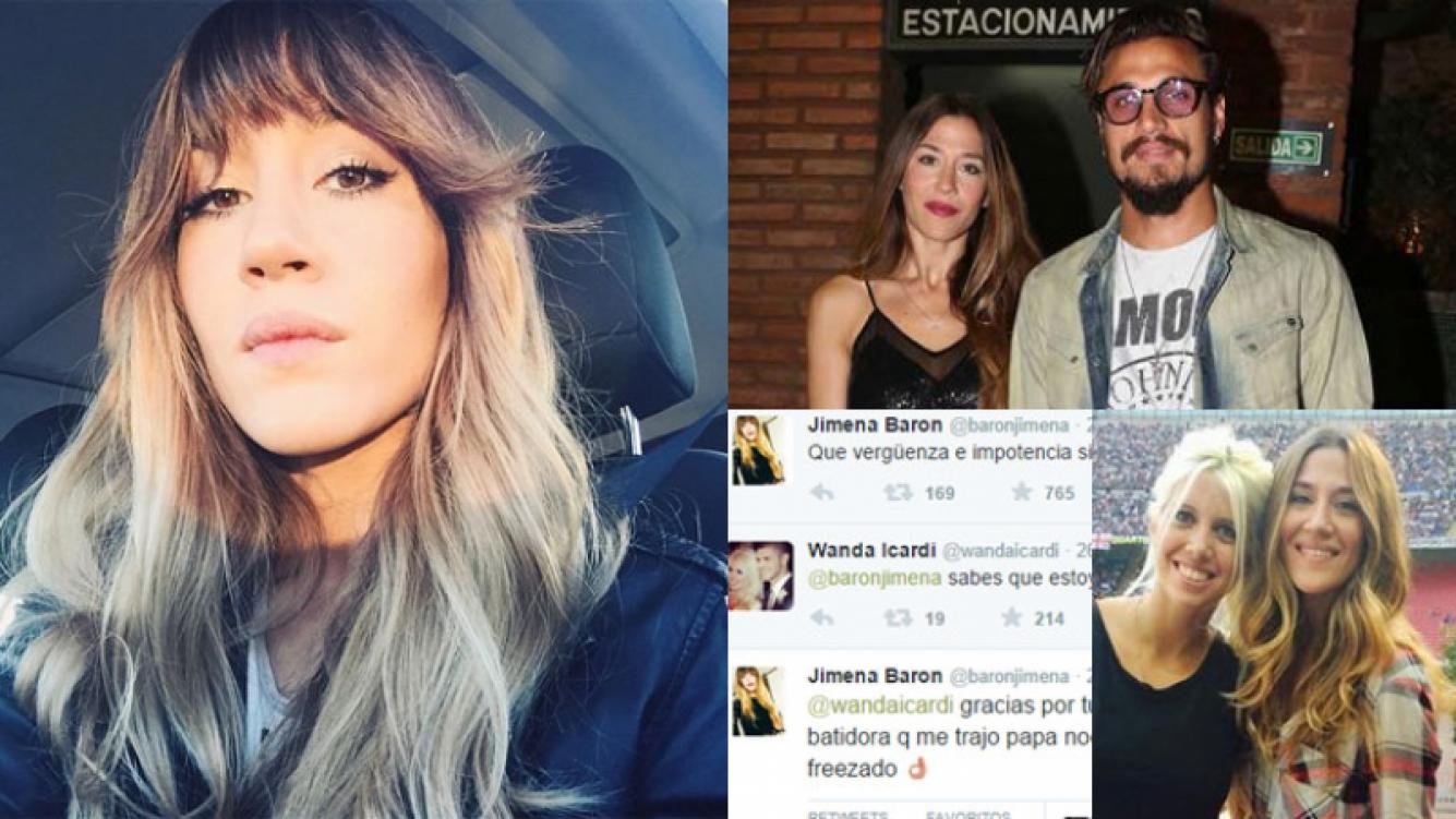 Jimena Barón, indignada con Osvaldo, recibió el apoyo de Wanda (Fotos: Web).