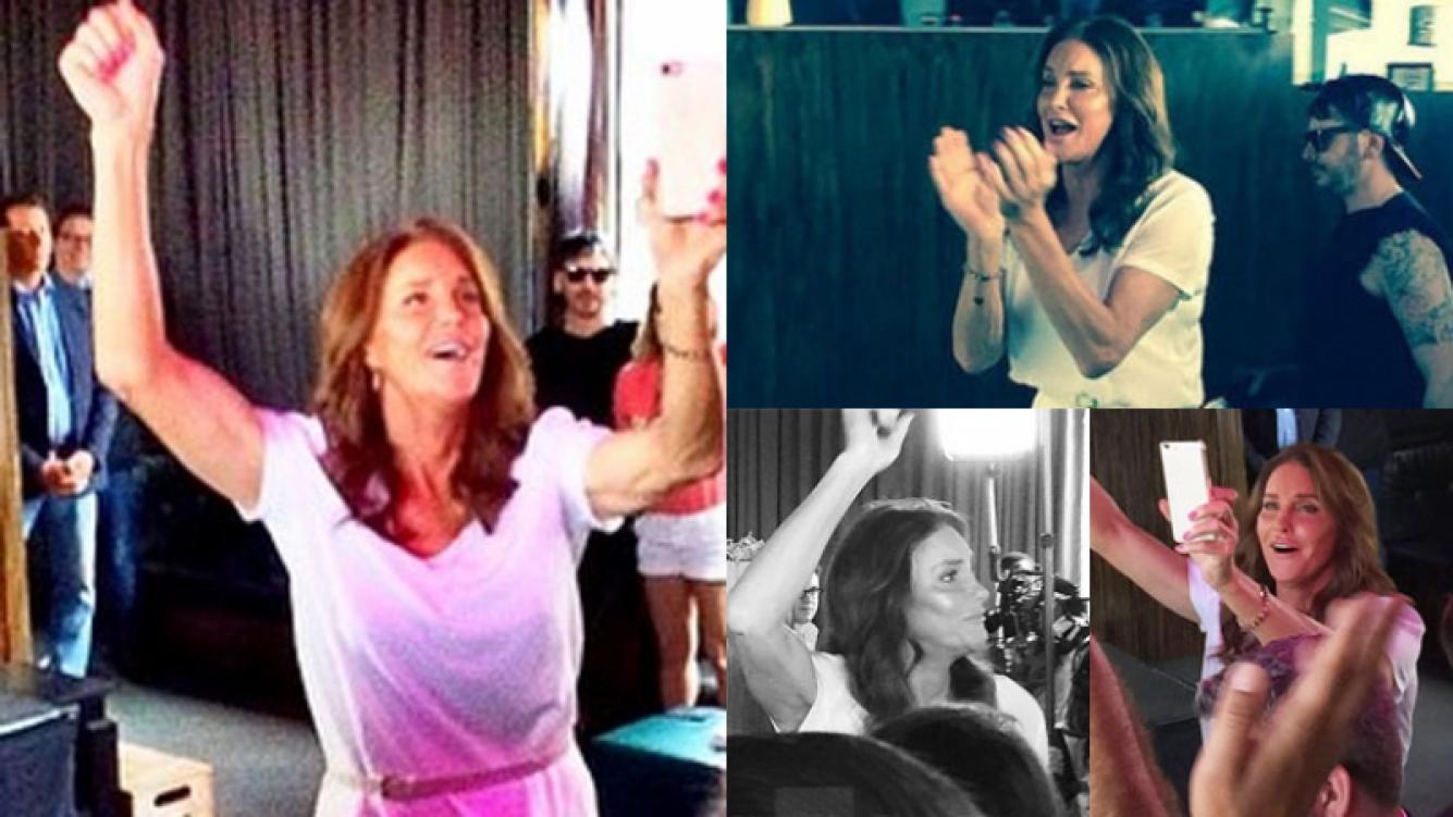 Caitlyn Jenner en pleno festejo de la legalización del matrimonio igualitario (Fotos: Instagram).