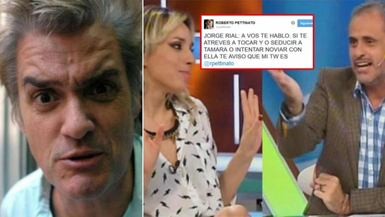 El tweet-advertencia de Roberto Pettinato a Jorge Rial. Fotos: Web, Twitter y Capturas TV.