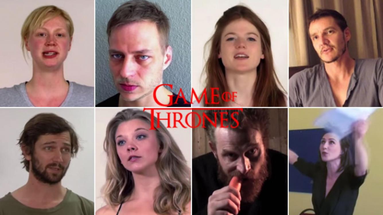 ¡Video furor! Mirá el casting de los actores de Game of Thrones. (Foto: captura)