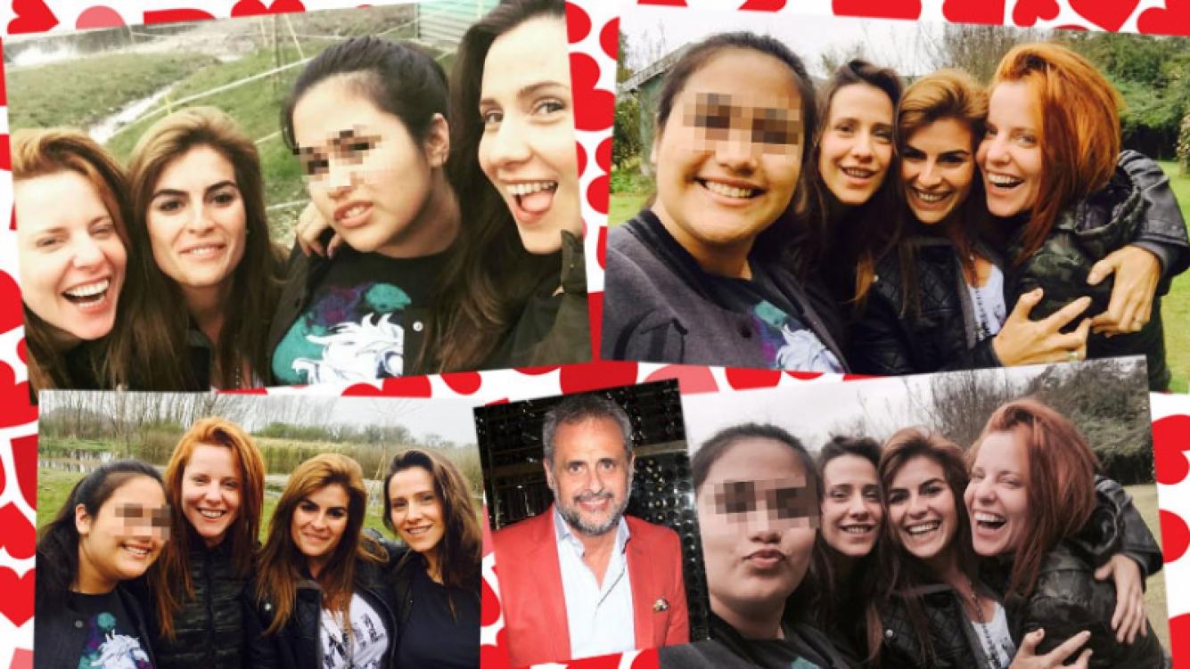 Las sonrientes fotos de Agustina Kämpfer junto a Rocío, una de las hijas de Jorge Rial. (Foto: Twitter)