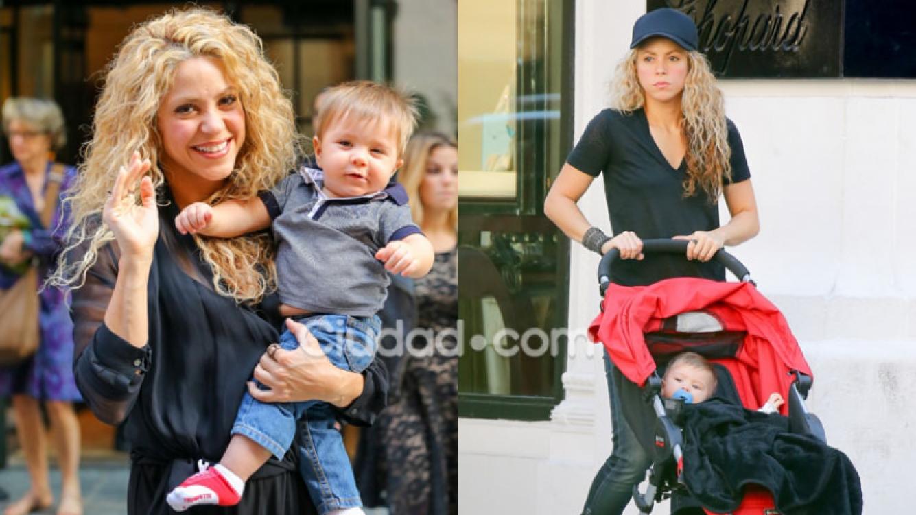 Shakira y su pequeño hijo Sasha, el dúo más canchero en Nueva York (Fotos: Grosby Group).