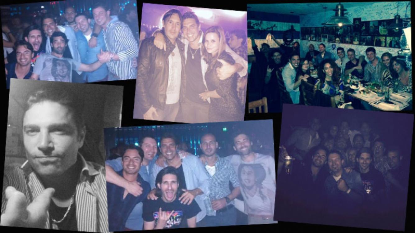 Matías Alé y las fotos de su última noche de soltero. (Foto: Twitter)