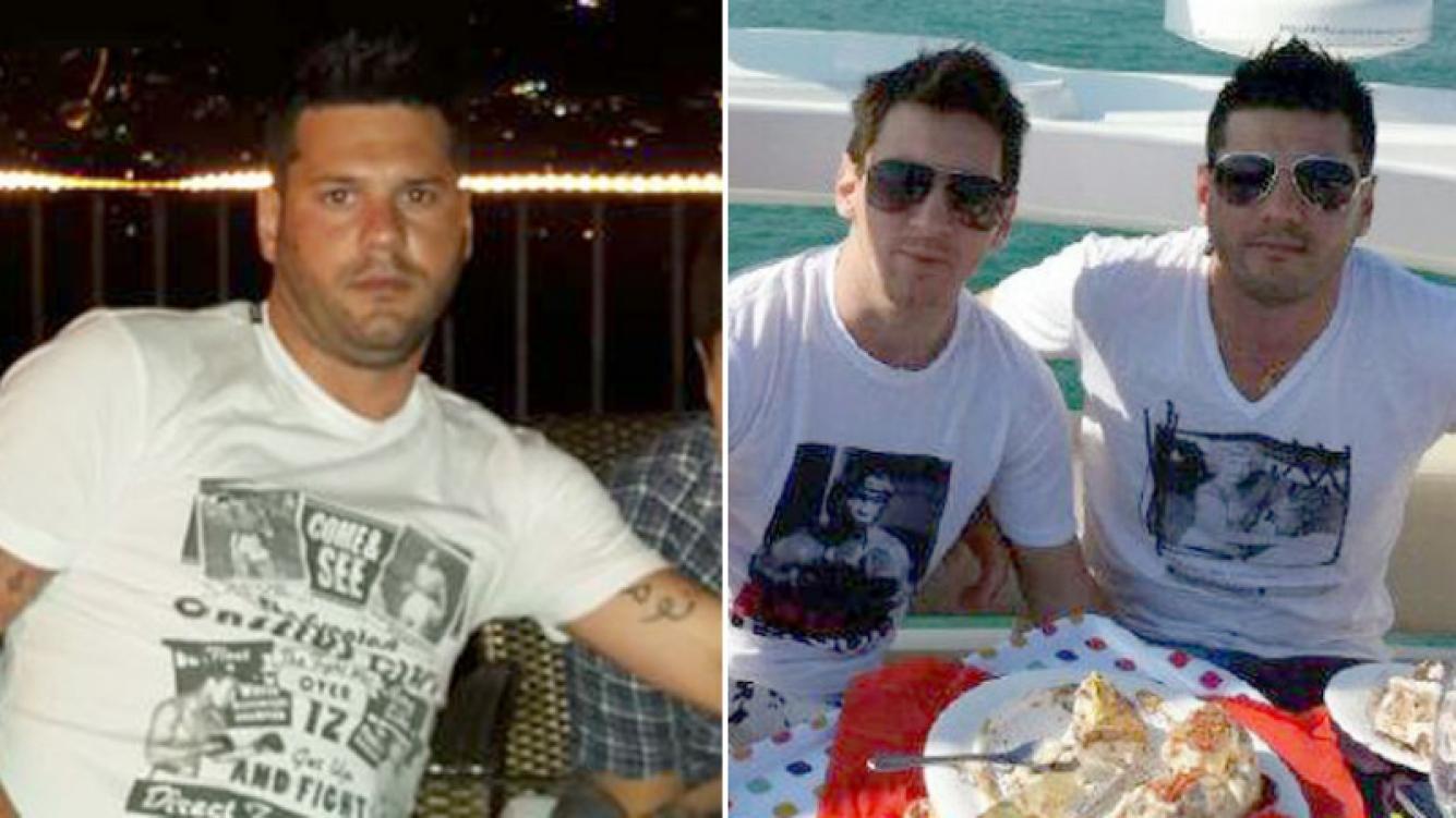 Matías, el hermano de Messi, detenido con un arma de fuego. (Foto: Twitter)