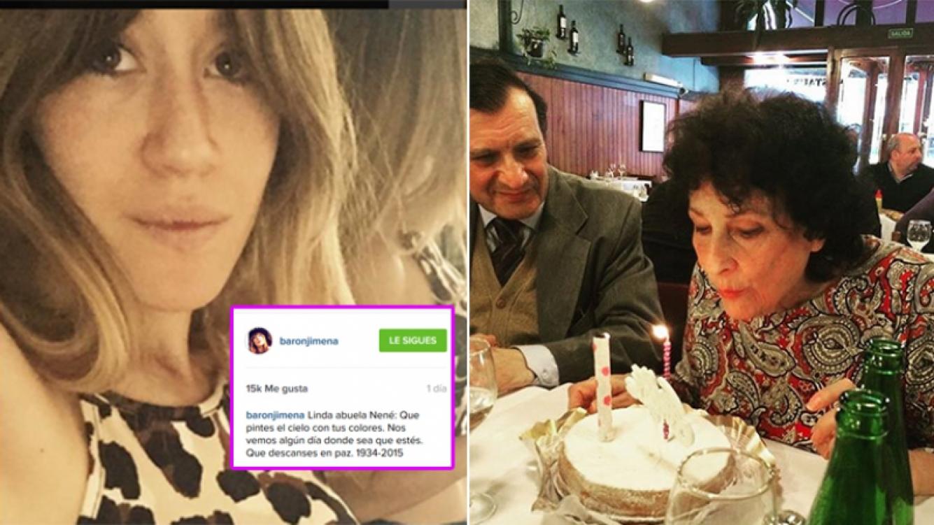 El mensaje de Jimena Barón por la muerte de su abuela. Fotos: Instagram.