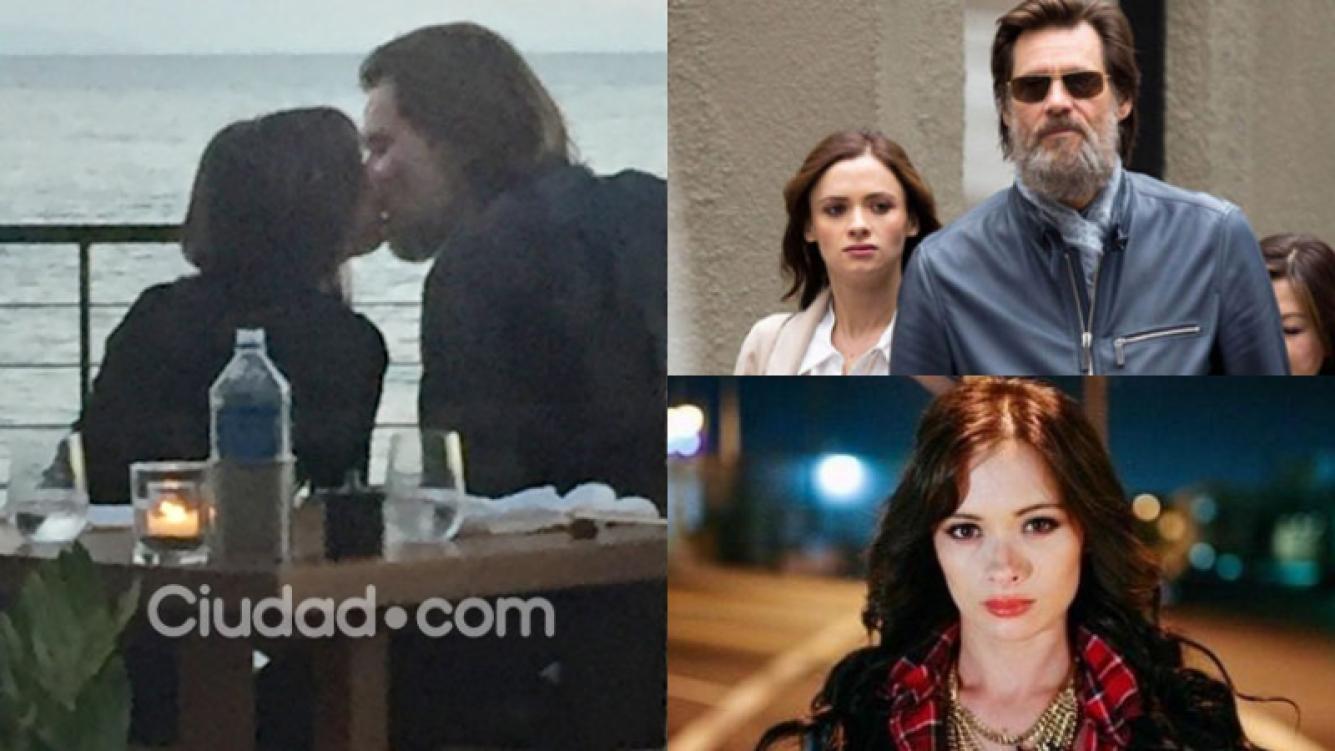 Cathriona White y Jime Carrey lucían enamorados a días del suicidio (Fotos: Grosby Group y Web).
