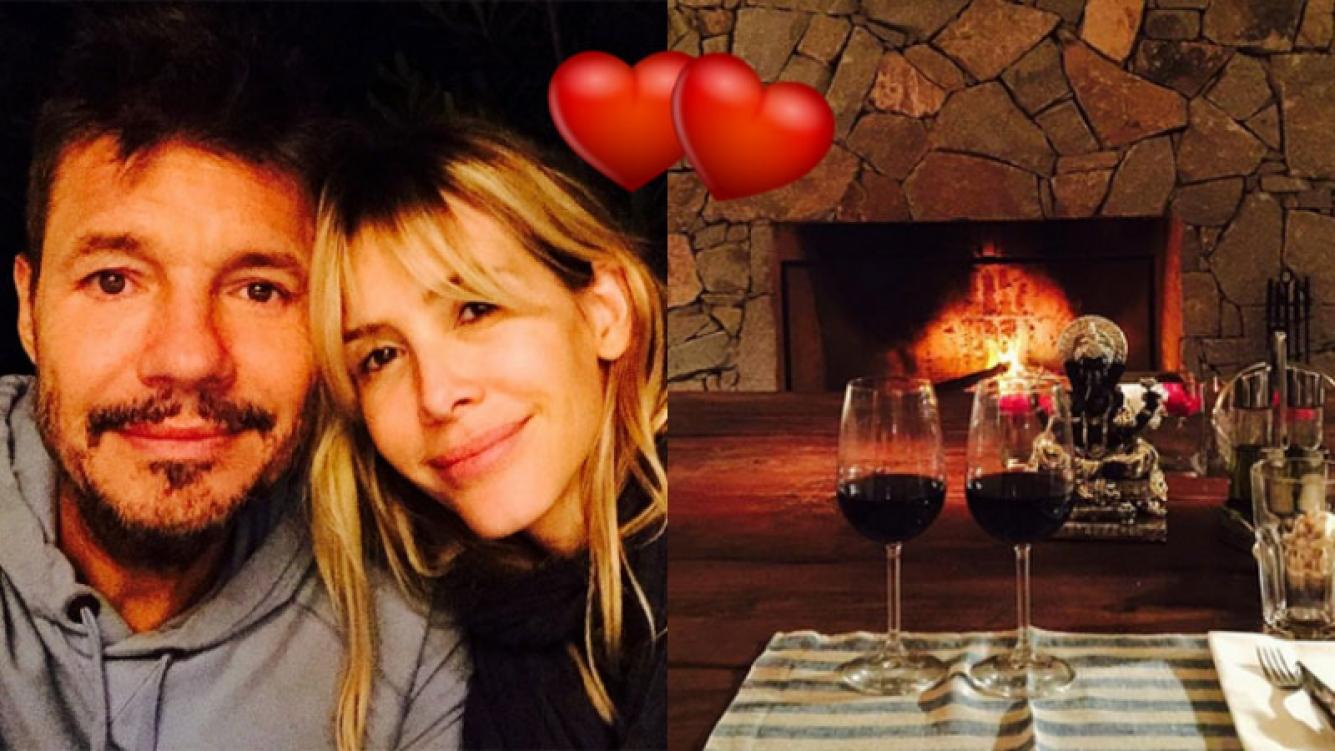 Marcelo Tinelli y Guillermina Valdés, súper enamorados (Fotos: Instagram).