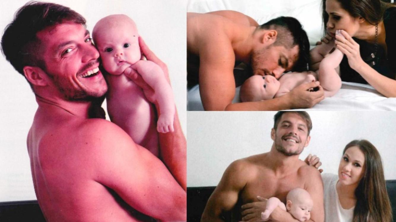Francisco Delgado en su primera sesión de fotos con Elenita. Foto: Gente