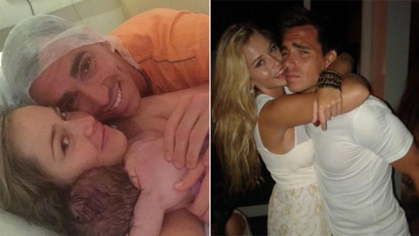 Pablo Mouche y su mujer Valentina fueron papás de Benicio. Fotos: Instagram.