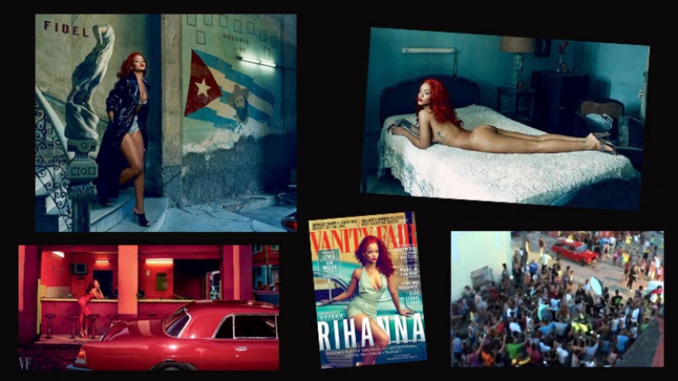 La provocativa producción de Rihanna en Cuba. (Foto: Vanity Fair)