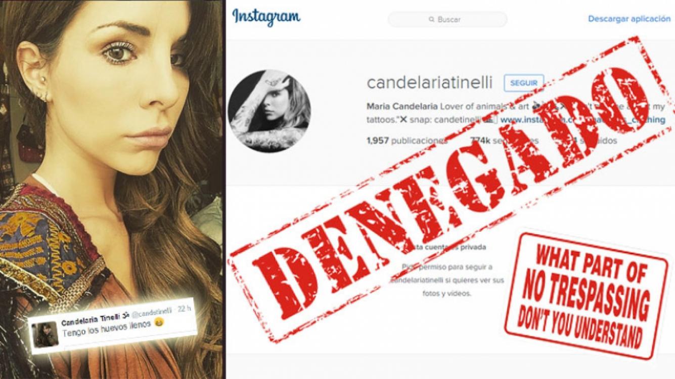 Cande Tinelli bloqueó su cuenta de Instagram. (Foto: Instagram)