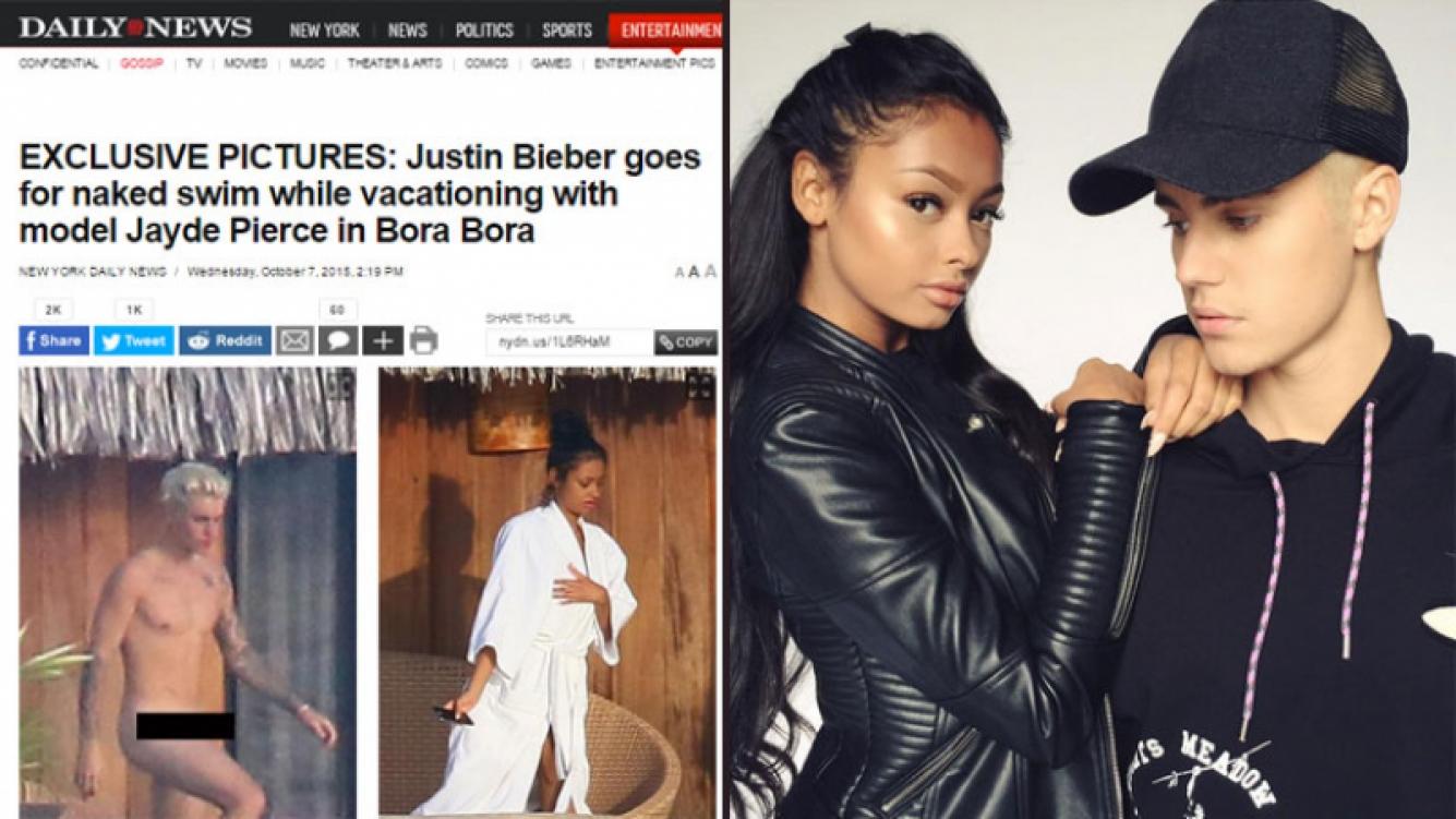 Publican fotos de Justin Bieber completamente desnudo. (Foto: dailynews e Instagram)