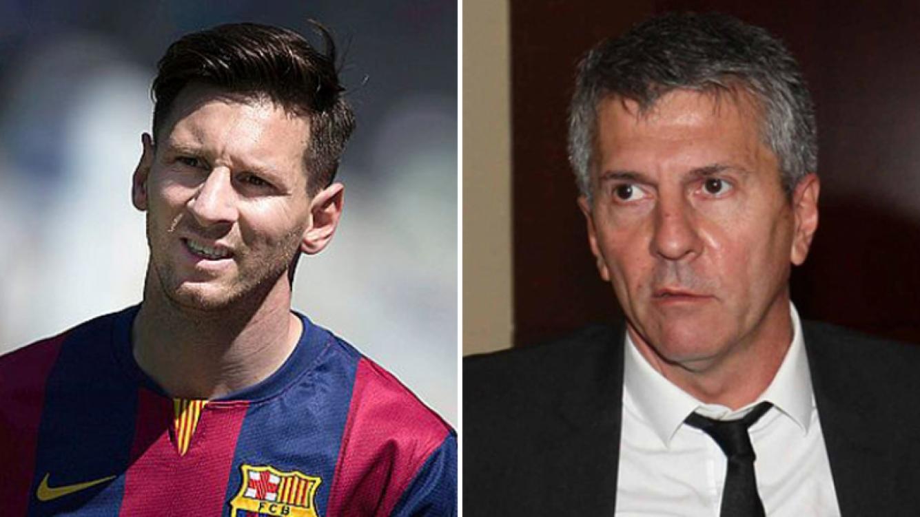 Lionel Messi y su padre, Jorge Messi, complicados con la Justicia de España. Foto: Web.