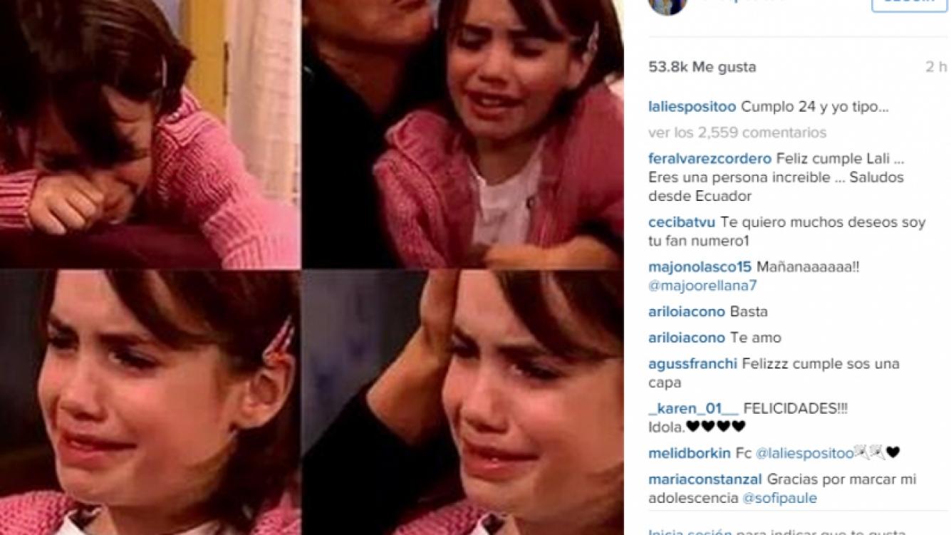 Lali Espósito y su divertido posteo en Instagram antes de su cumple.