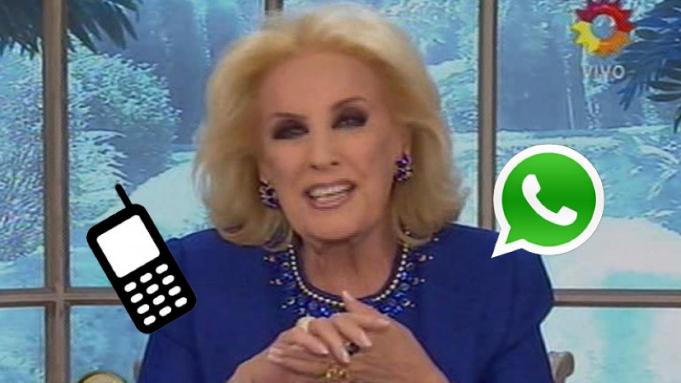 """Mirtha Legrand: """"Estoy enloquecida con WhatsApp"""" (Foto: web)"""