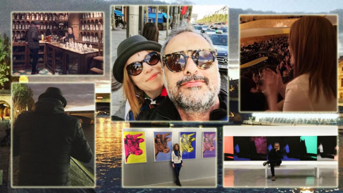 Jorge Rial y Agustina Kämpfer en París (Foto: Instagram)